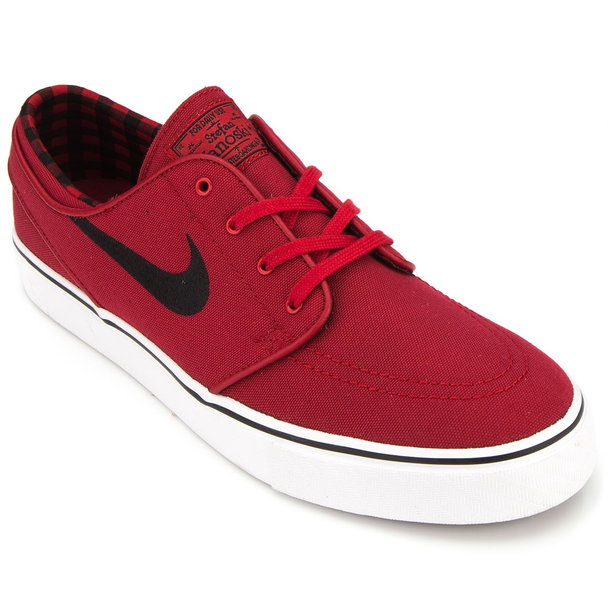 Nike Zoom Stefan Janoski Canvas Shoes - Red White Black - 6.0 a4a613bfe