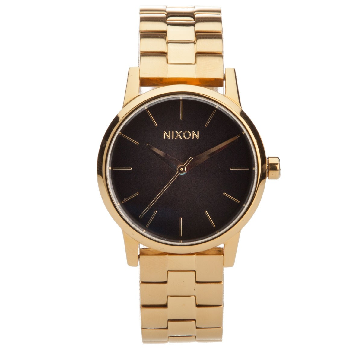 nixon small kensington all gold black sunray