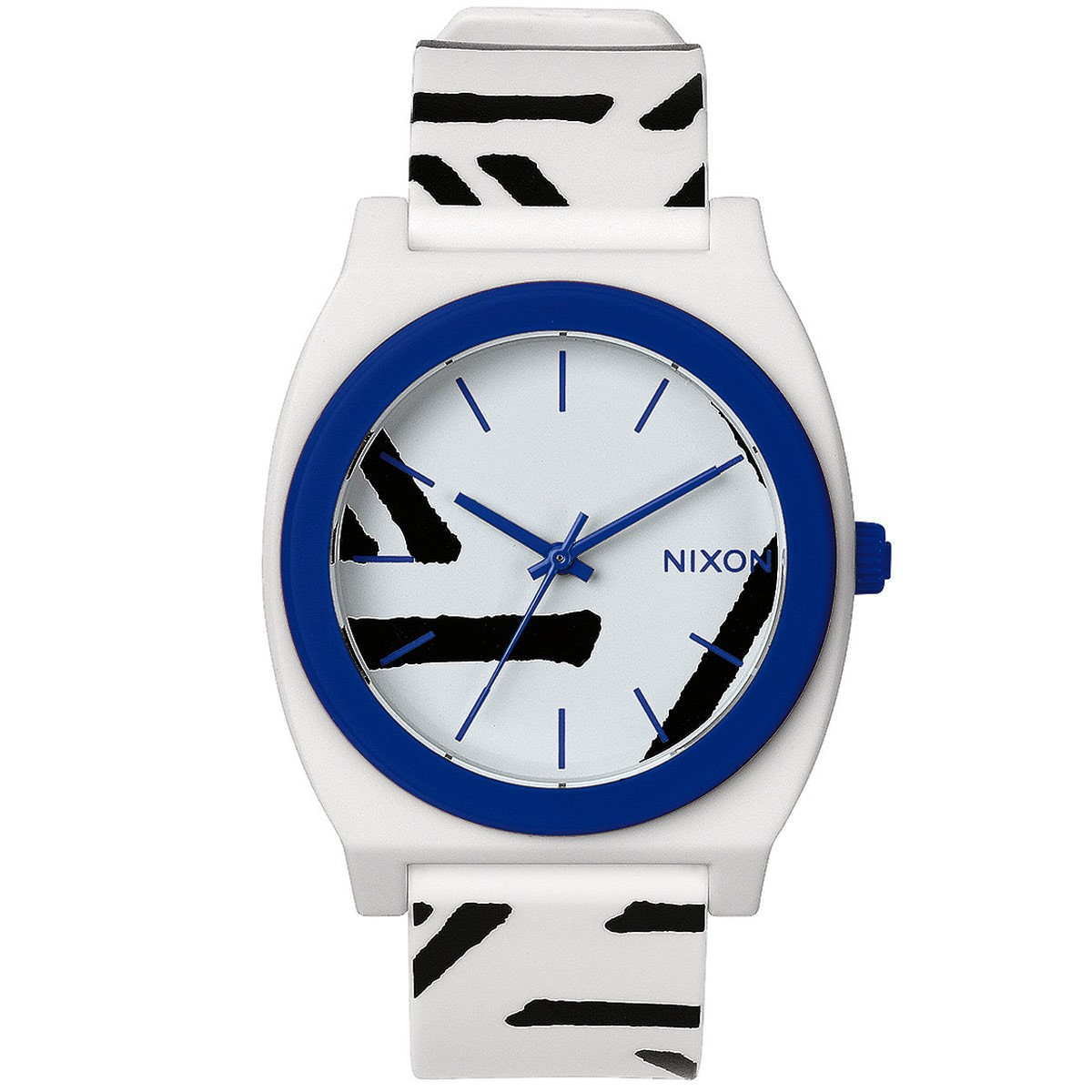 Nixon Time Teller P Watch - White/Cobalt