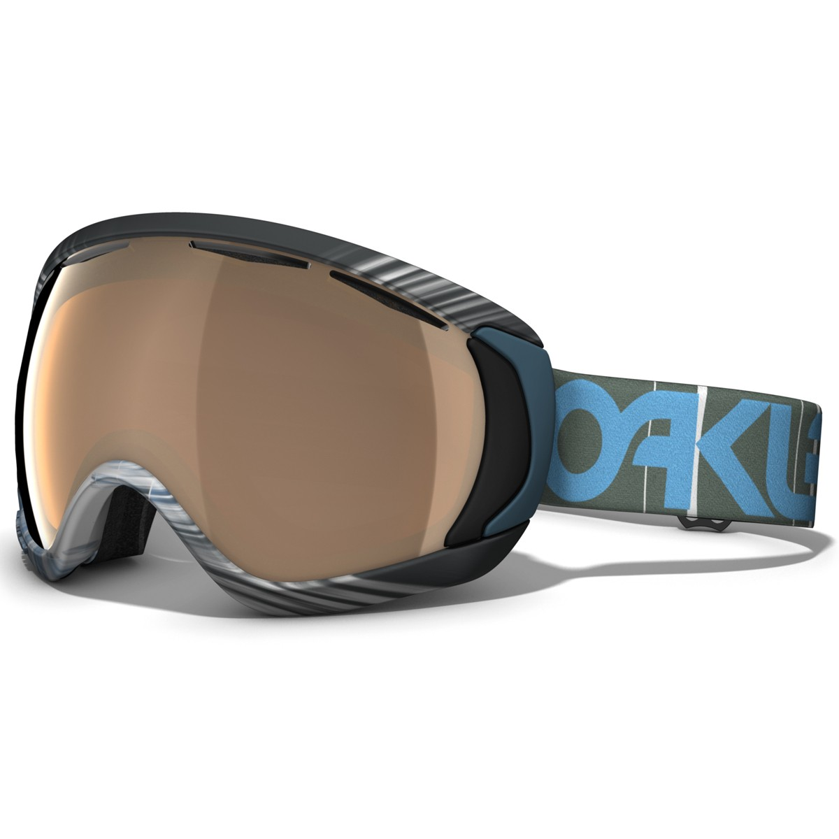 oakley canopy snowboard goggles 2015 session 1242 black iridium hi persimmon - Black Canopy 2015