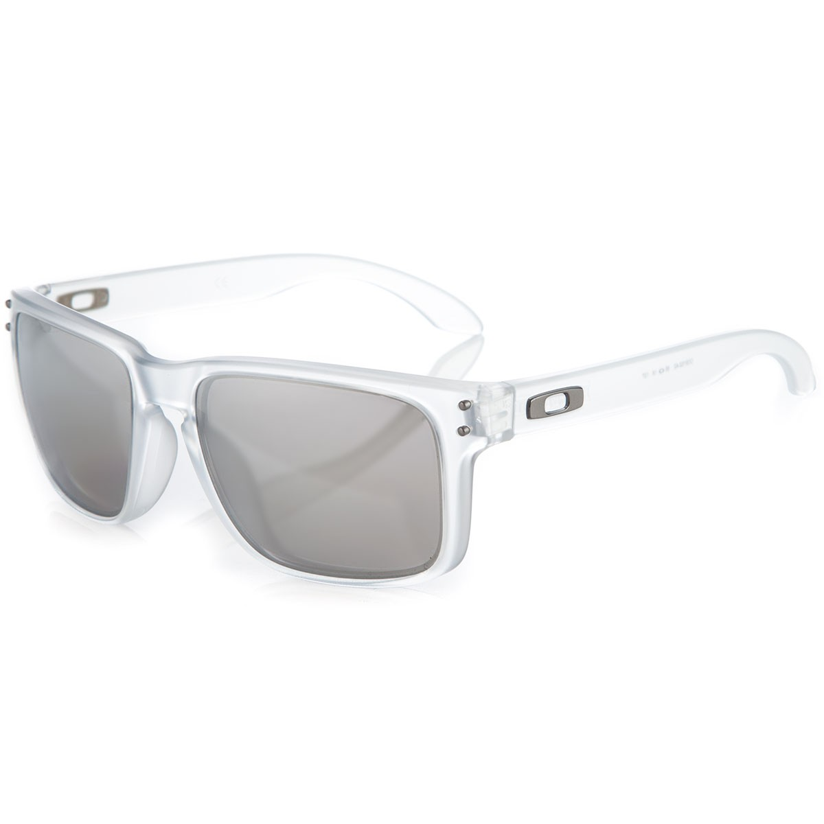 clear frame oakley sunglasses tym3  oakley holbrook clear frame chrome iridium