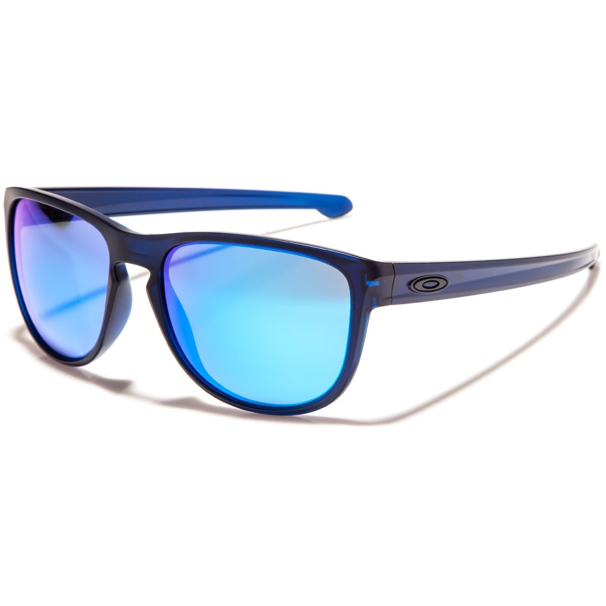 blue and silver oakley sunglasses  oakley sliver r sunglasses matte dark translucent blue/sapphire iridium