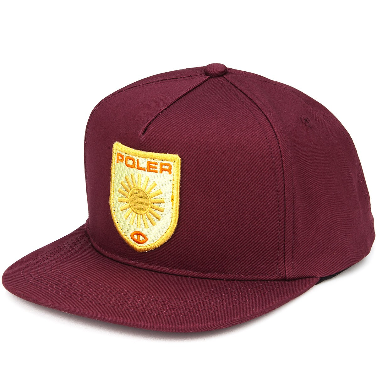 Poler D Patches Snapback Hat - Sweet Berry Wine