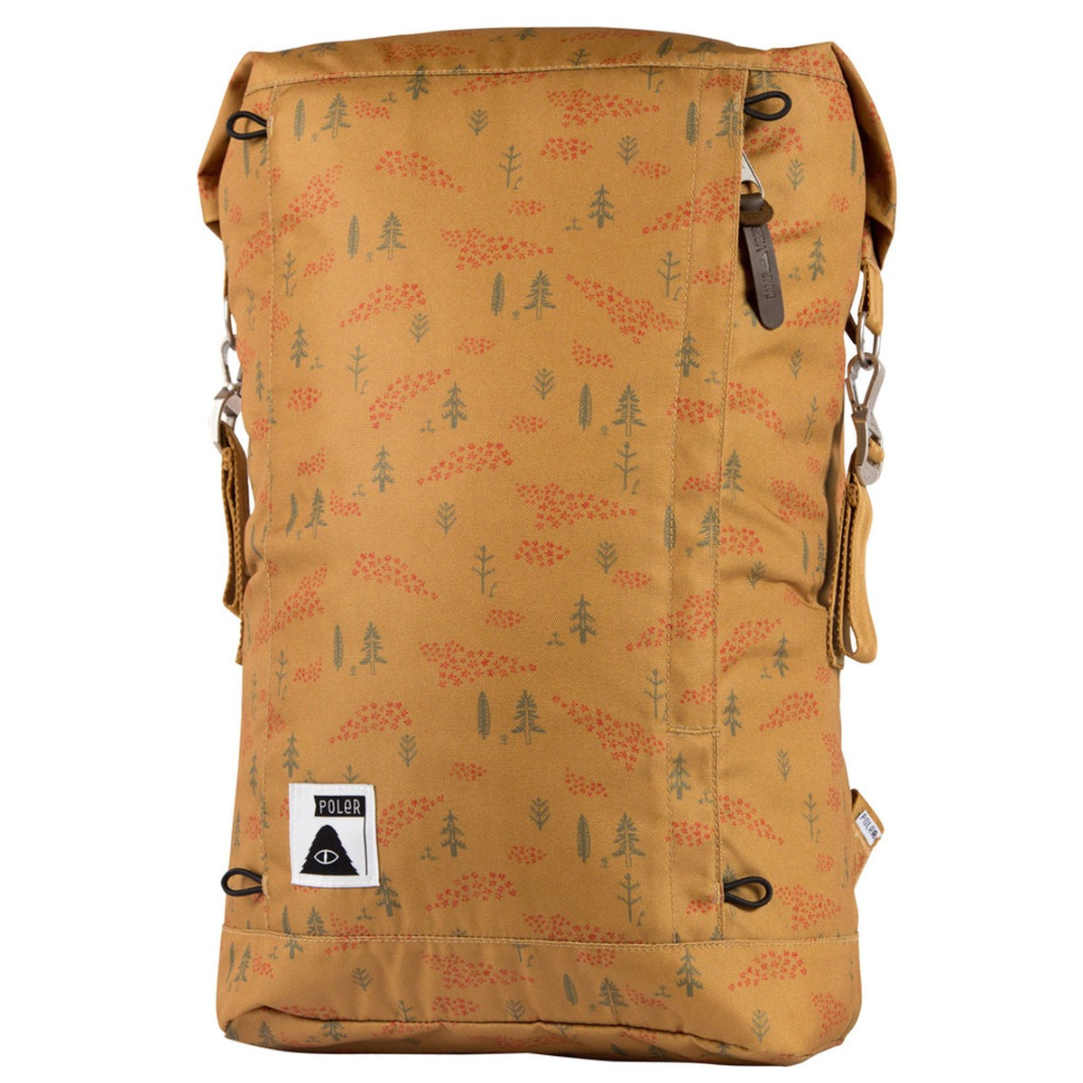 Poler Rolltop Backpack - Almond Forestry Print