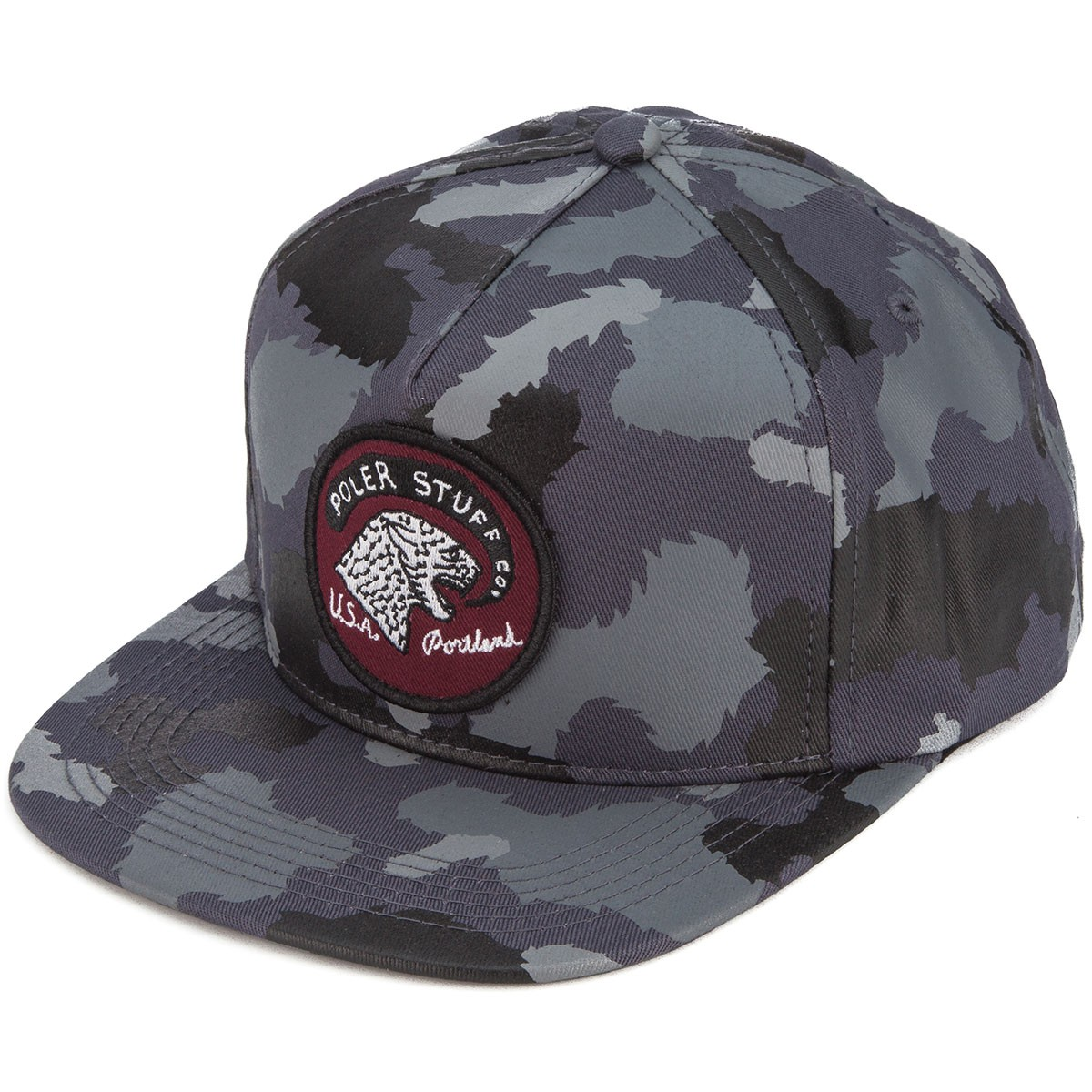 Poler Tiger Eye Snapback Hat - Grey Camo