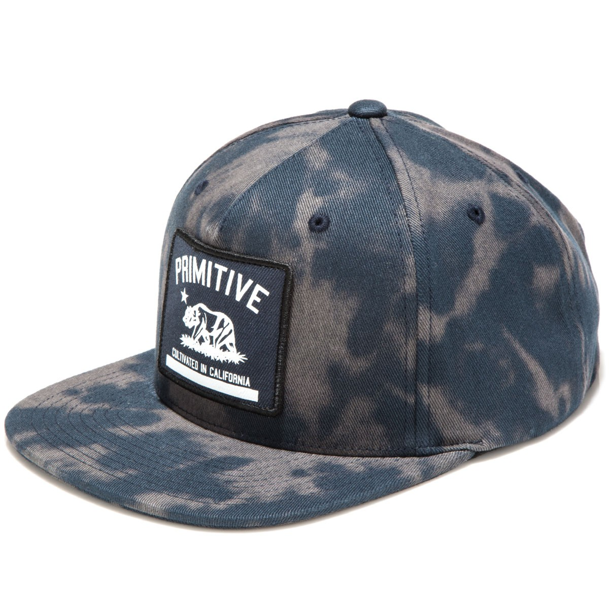 966c8aed1c09f Primitive Cultivated Tie Dye Snapback Hat - Navy