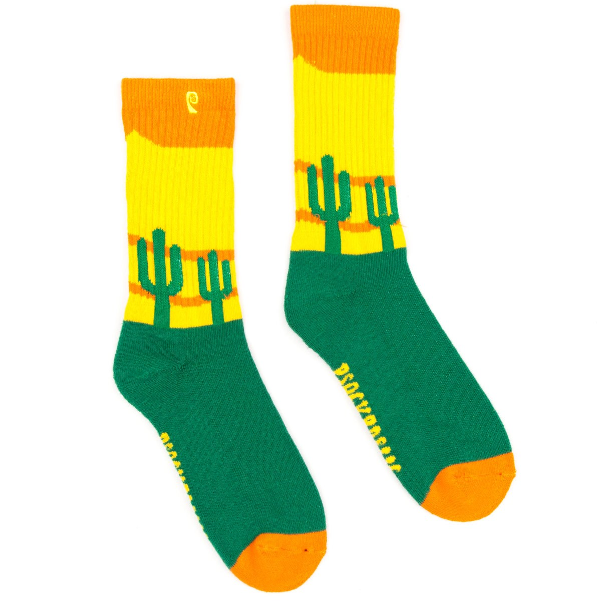 Psockadelic Cooler Cactus Socks - Green/Yellow/Orange