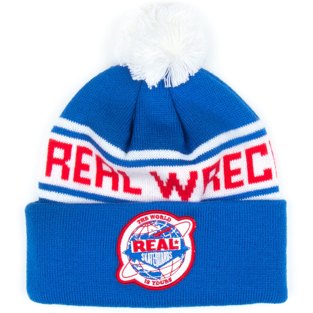 Real Wreck Crew Pom Beanie - Royal