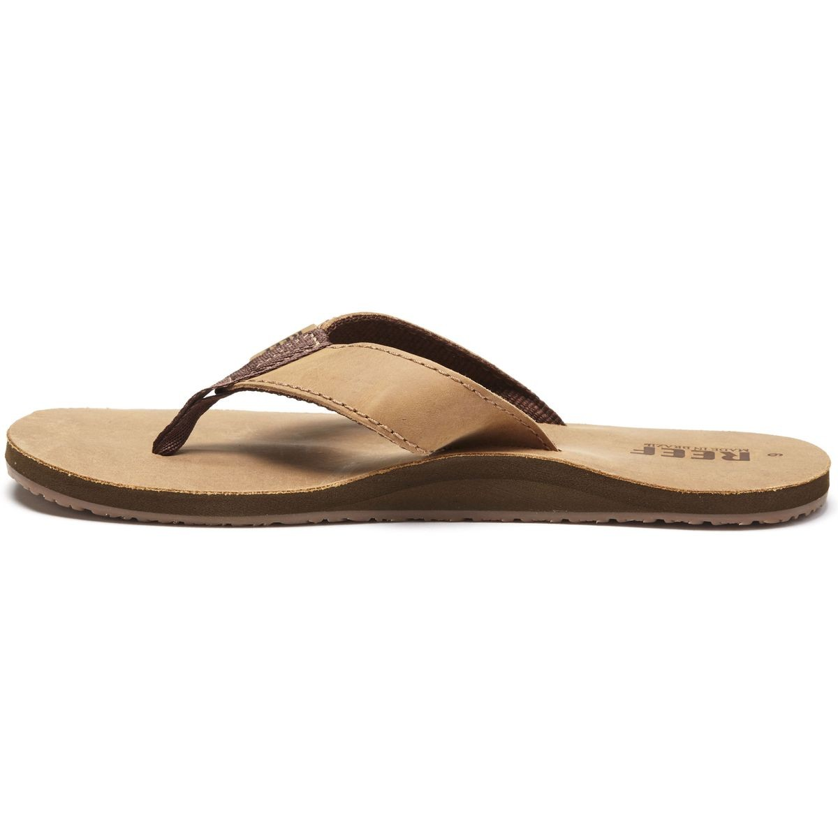 99248e2e78ed Reef Leather Smoothy Sandals - Bronze Brown - 10.0