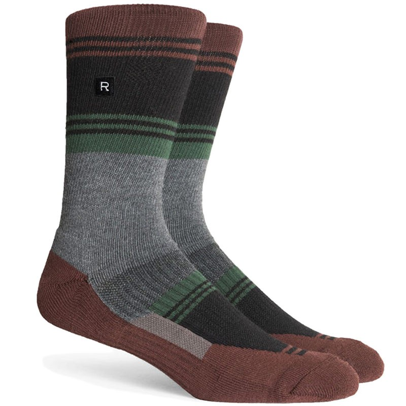 Richer Poorer Expressionist Socks - Brown/Black