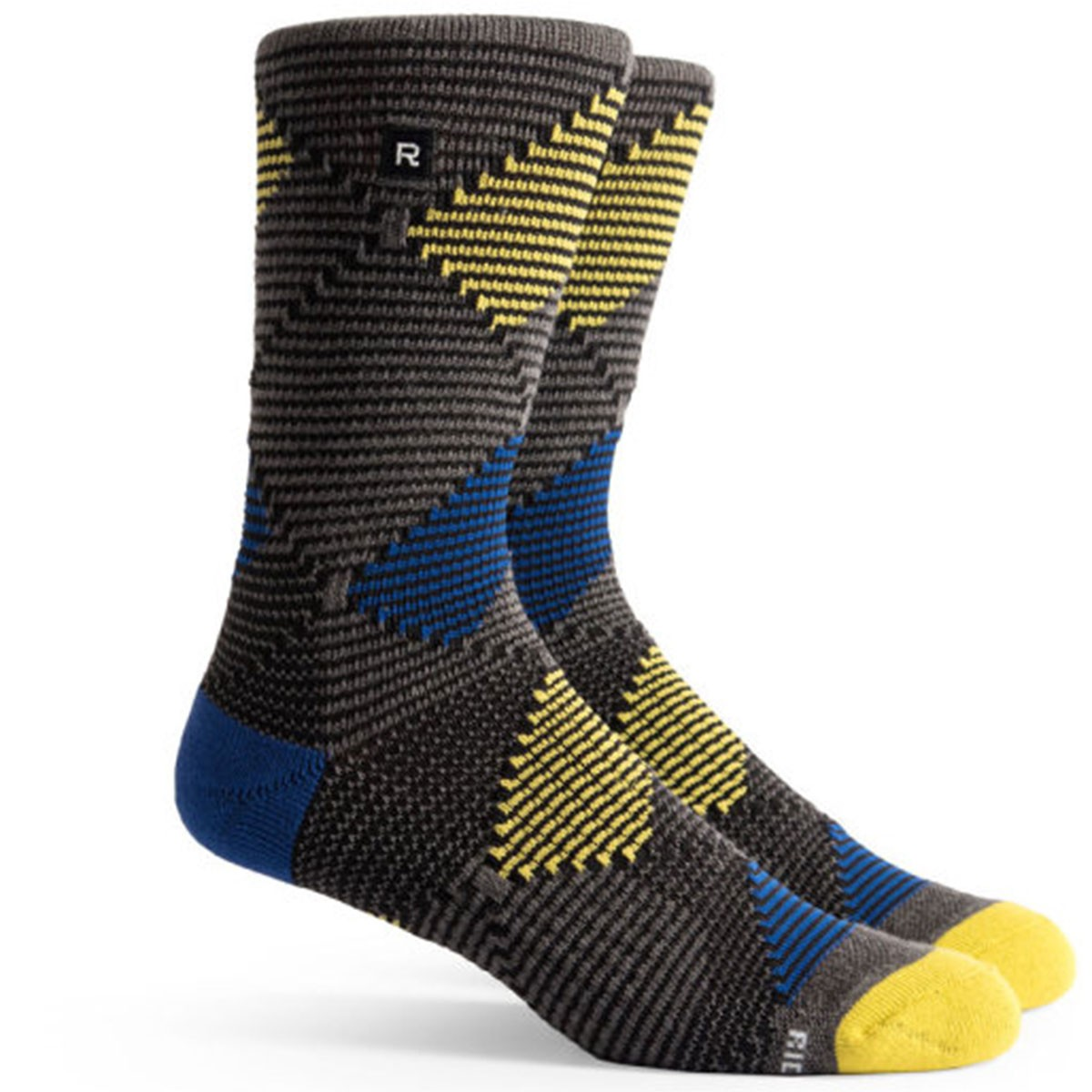 Richer Poorer Optic Argyle Athletic Socks - Charcoal