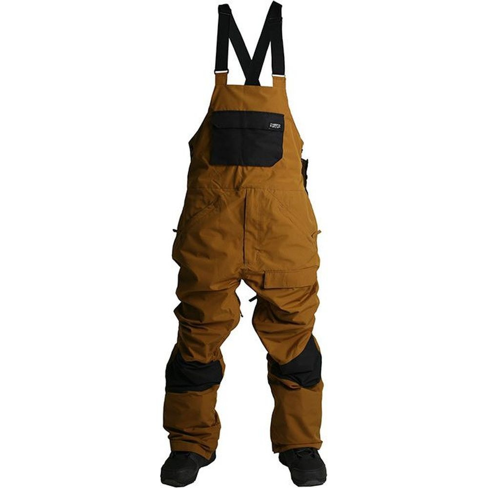 Ride Central Bib Snowboard Pants - Bronze/Black