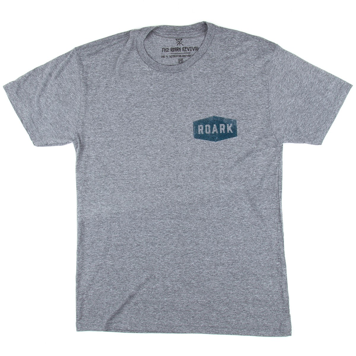 Roark Plaque T-Shirt - Heather Grey
