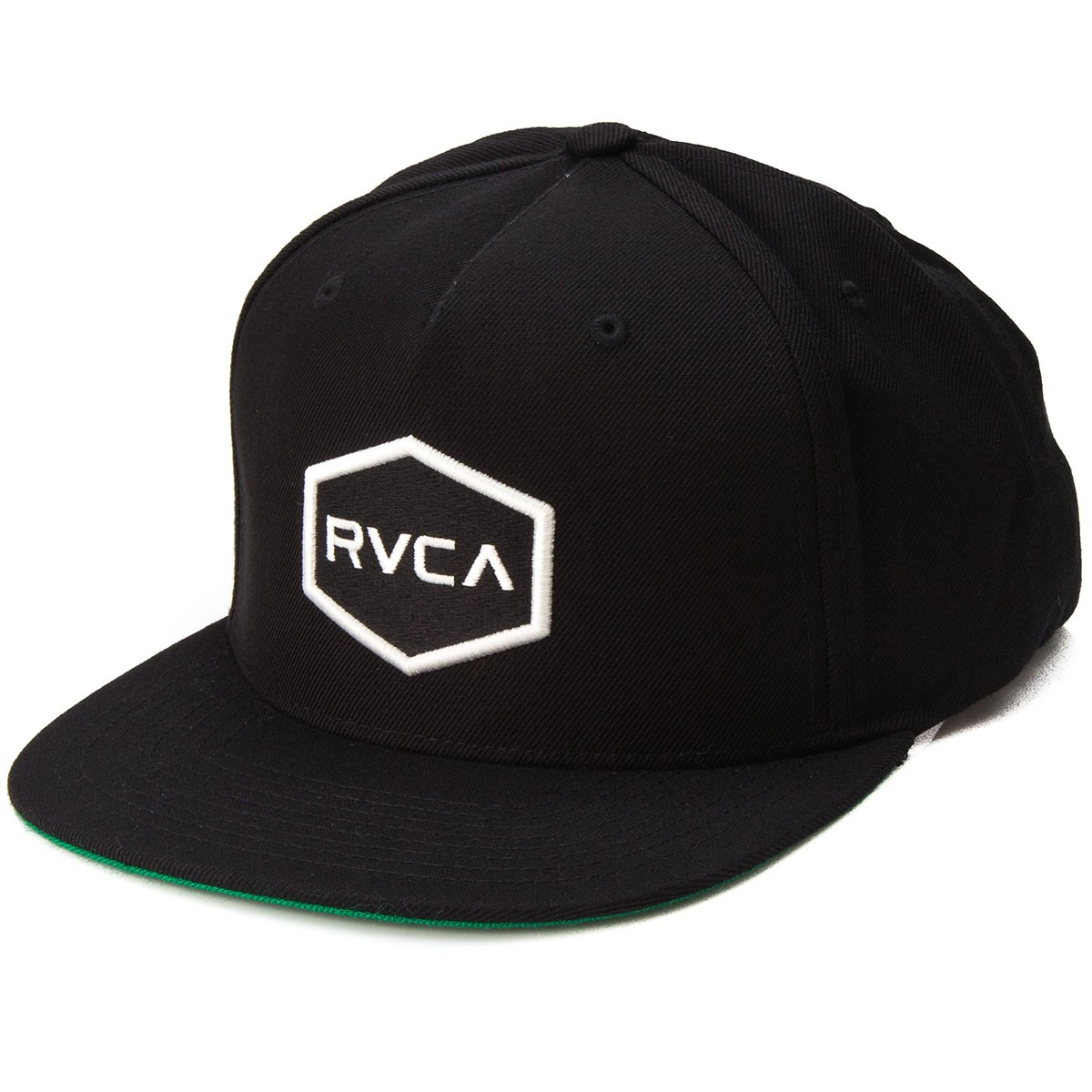 29fecdcc611 RVCA Commonwealth Snapback Hat - Black White