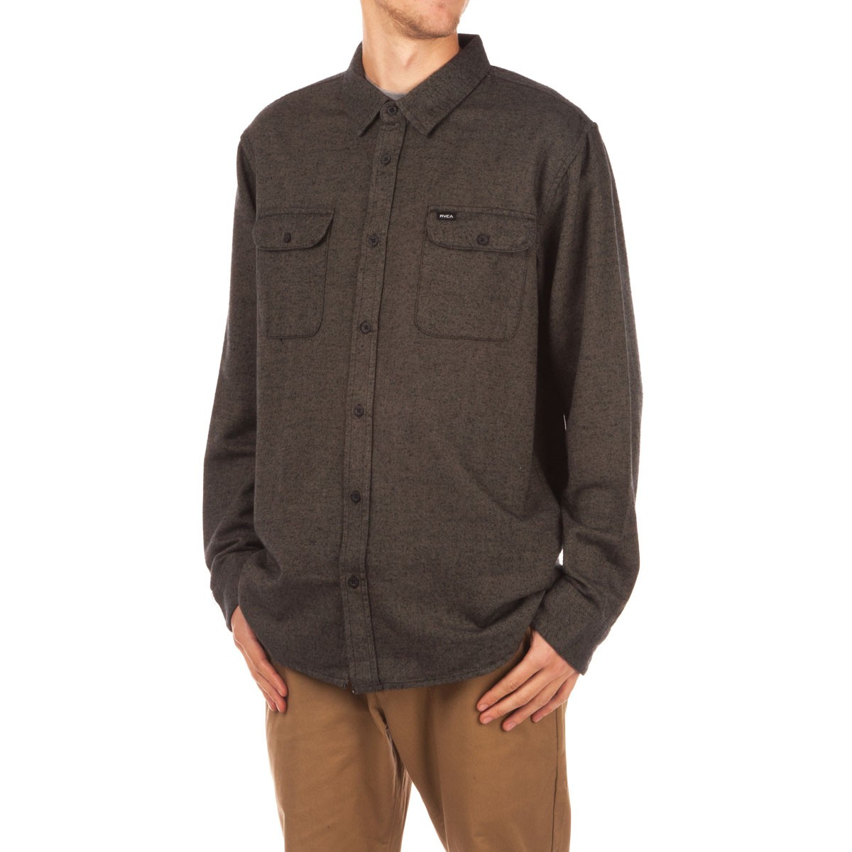 RVCA Coyote Flannel Shirt - Dusty Olive