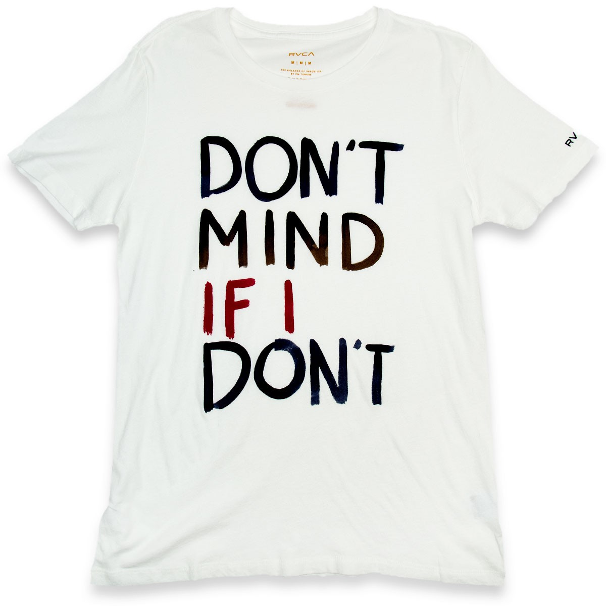 RVCA Don't Mind Womens T-Shirt - Vintage White