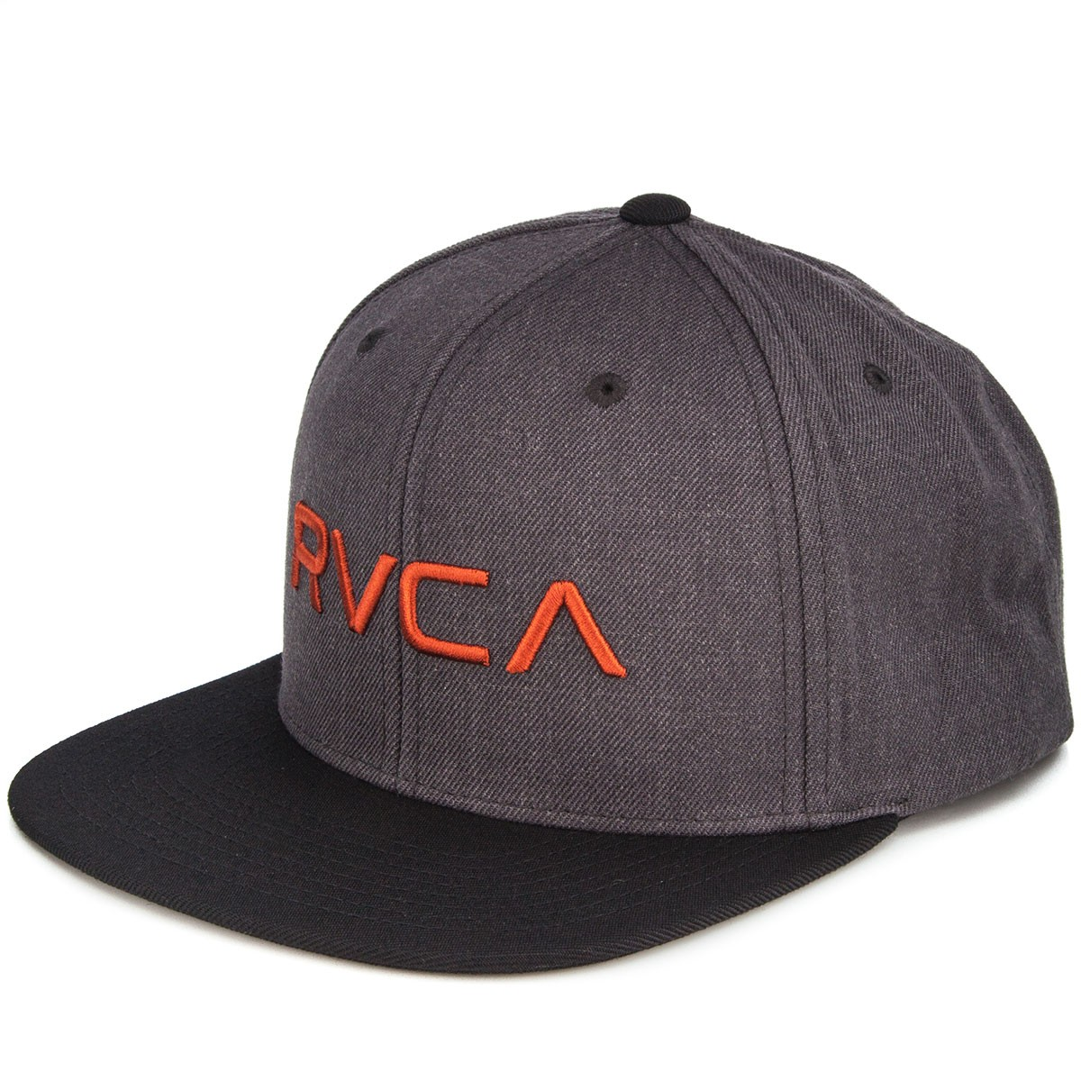 RVCA RVCA Twill Snapback Hat - Dark Charcoal Heather