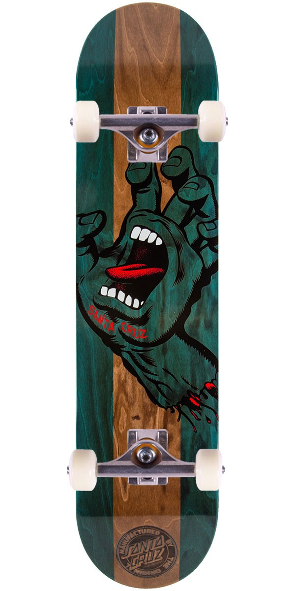 Santa Cruz Stained Hand Skateboard Complete - 7.6""
