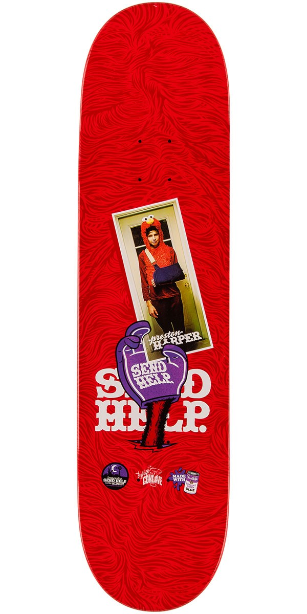 Send help preston harper elmo pad skateboard deck 8 00