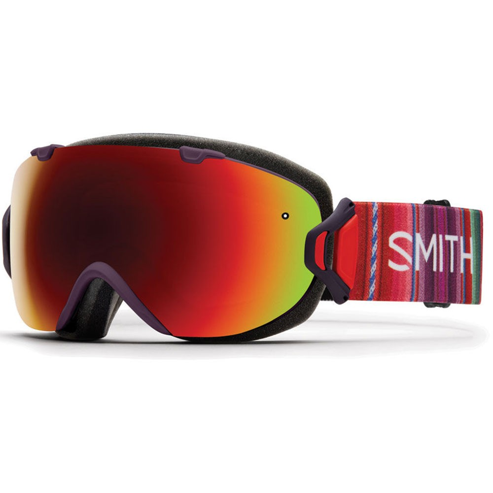 Smith I/Os Snowboard Goggles - Black Cherry Cuzco With Red Sol-X Mirror