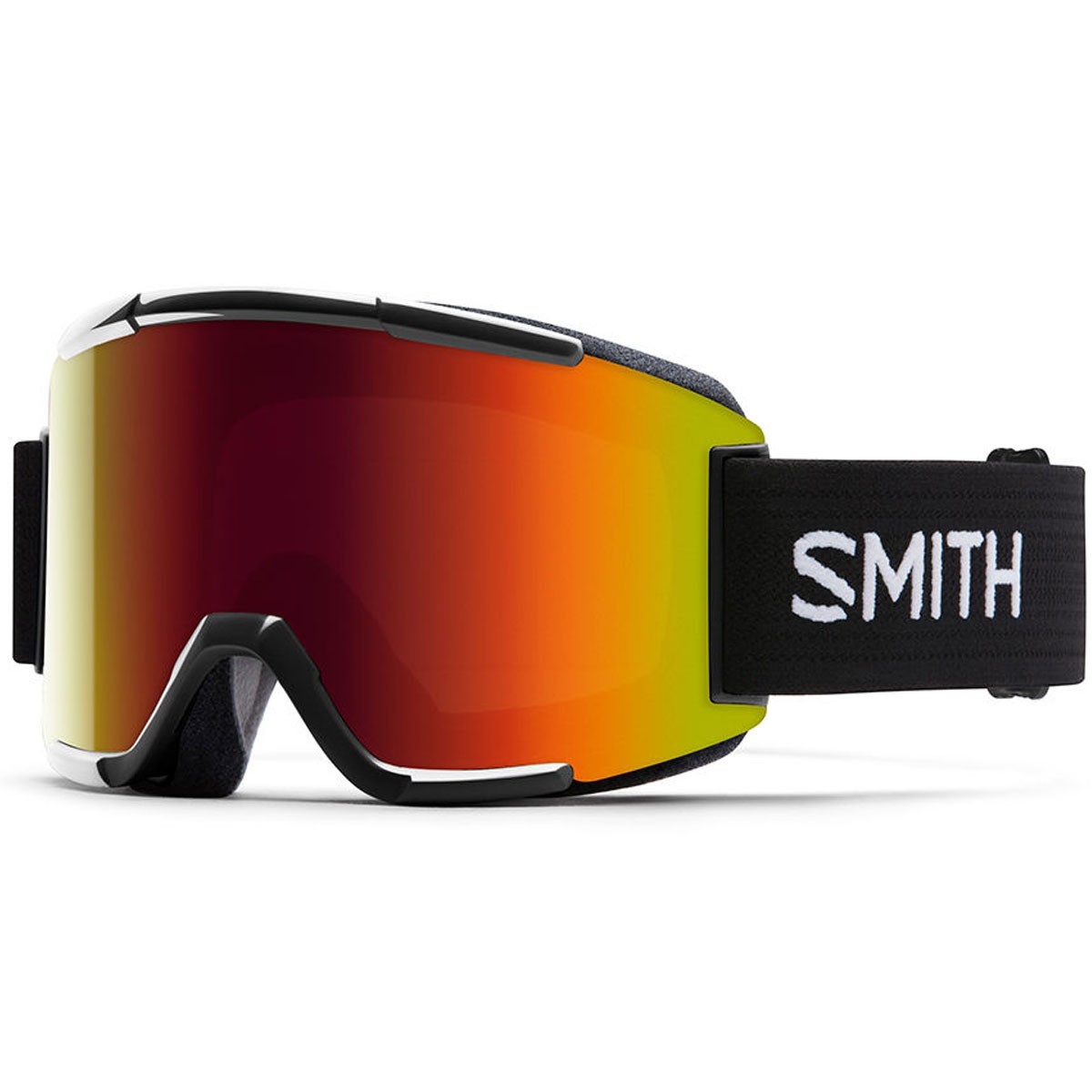 Smith Squad Snowboard Goggles - Black with Red Sol X Mirror