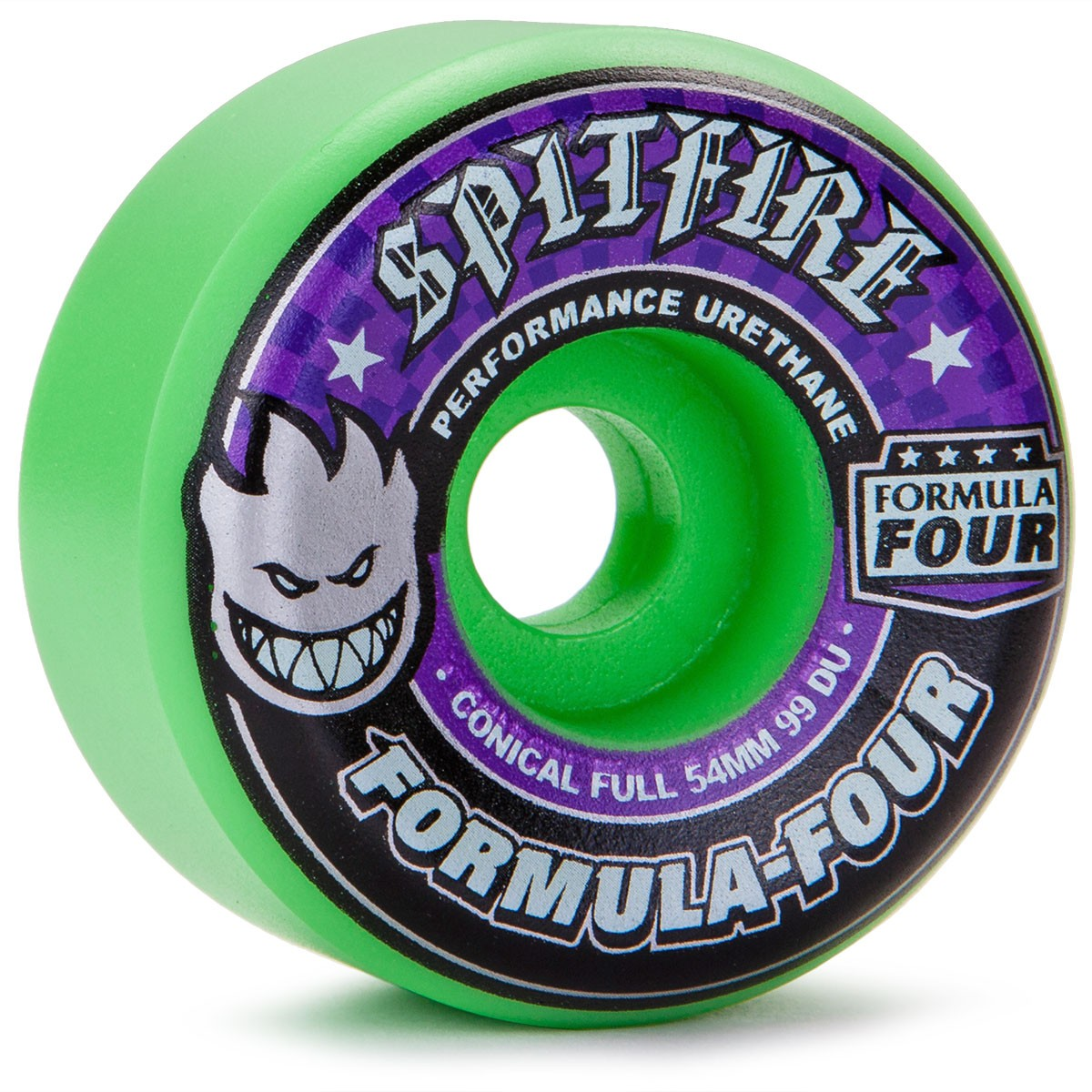 spitfire 54mm. spitfire formula four skateboard wheels - 54mm hot green 99a f