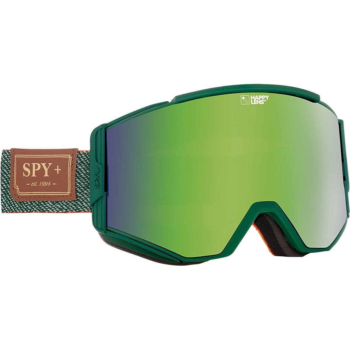 Spy Ace Snowboard Goggles - Hunter Green /Happy Green Spectra with Happy Lucid Silver