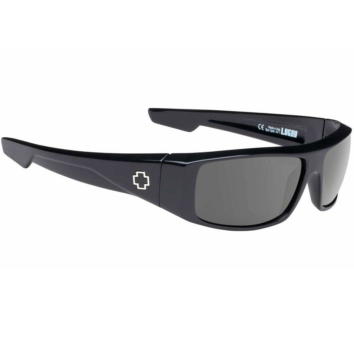 Spy Logan Sunglasses - Black - Happy Gray Green