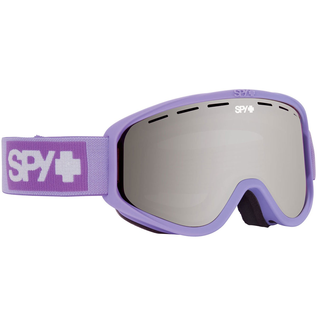 Spy Woot Womens Snowboard Goggles - Elemental Lavender/Silver Mirror with Persimmon