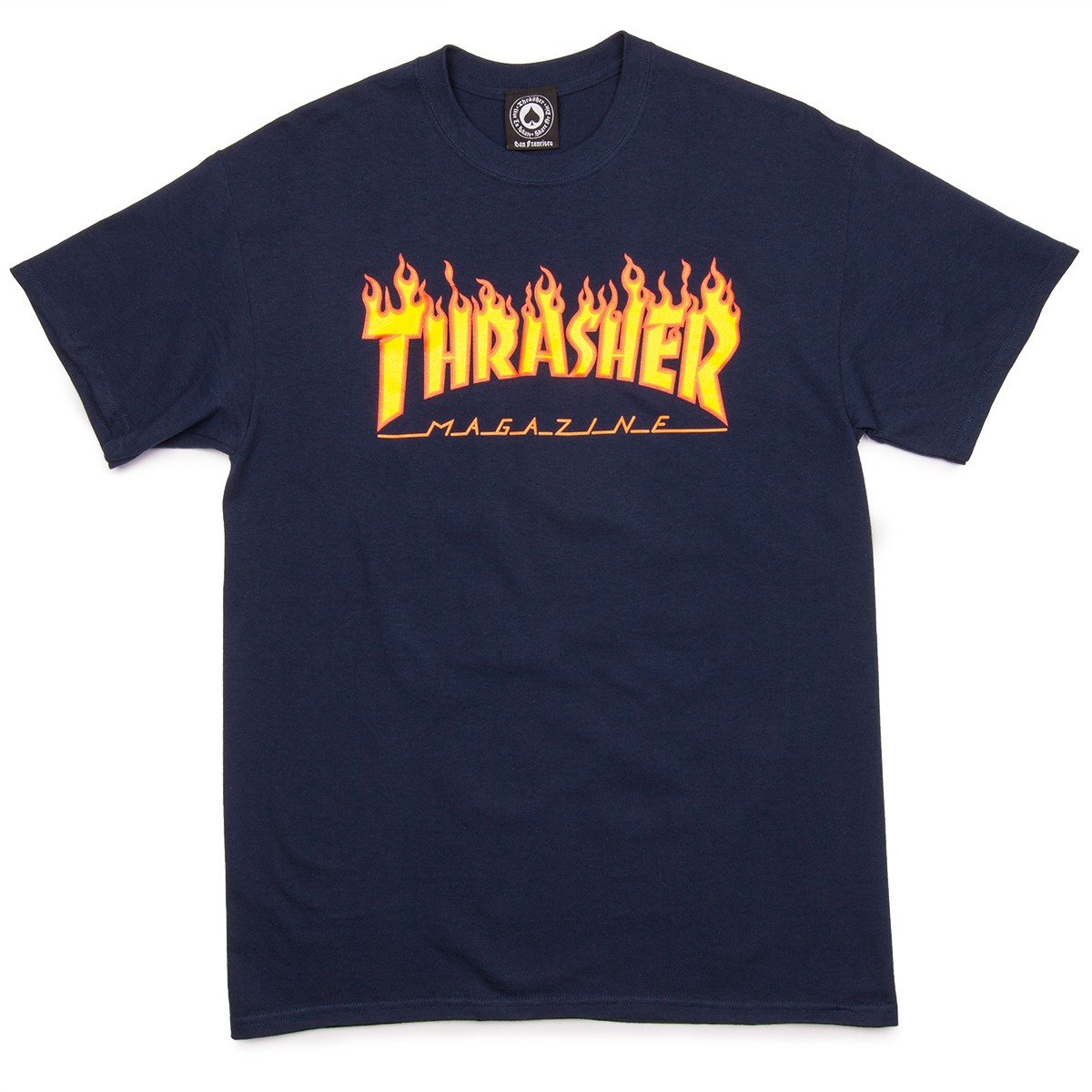 f4ea03ea7 Long Sleeve · Short Sleeve · Thrasher Flame T-Shirt - Navy