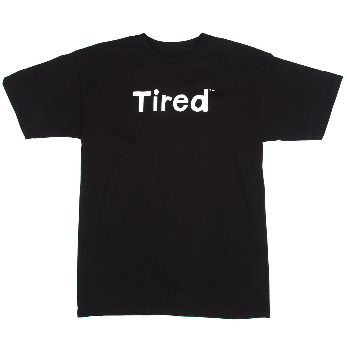 Tired Simple Logo T-Shirt - Black
