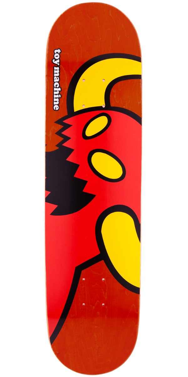 """Toy Machine Vice Monster Skateboard Deck - Red Stain - 8.125"""""""