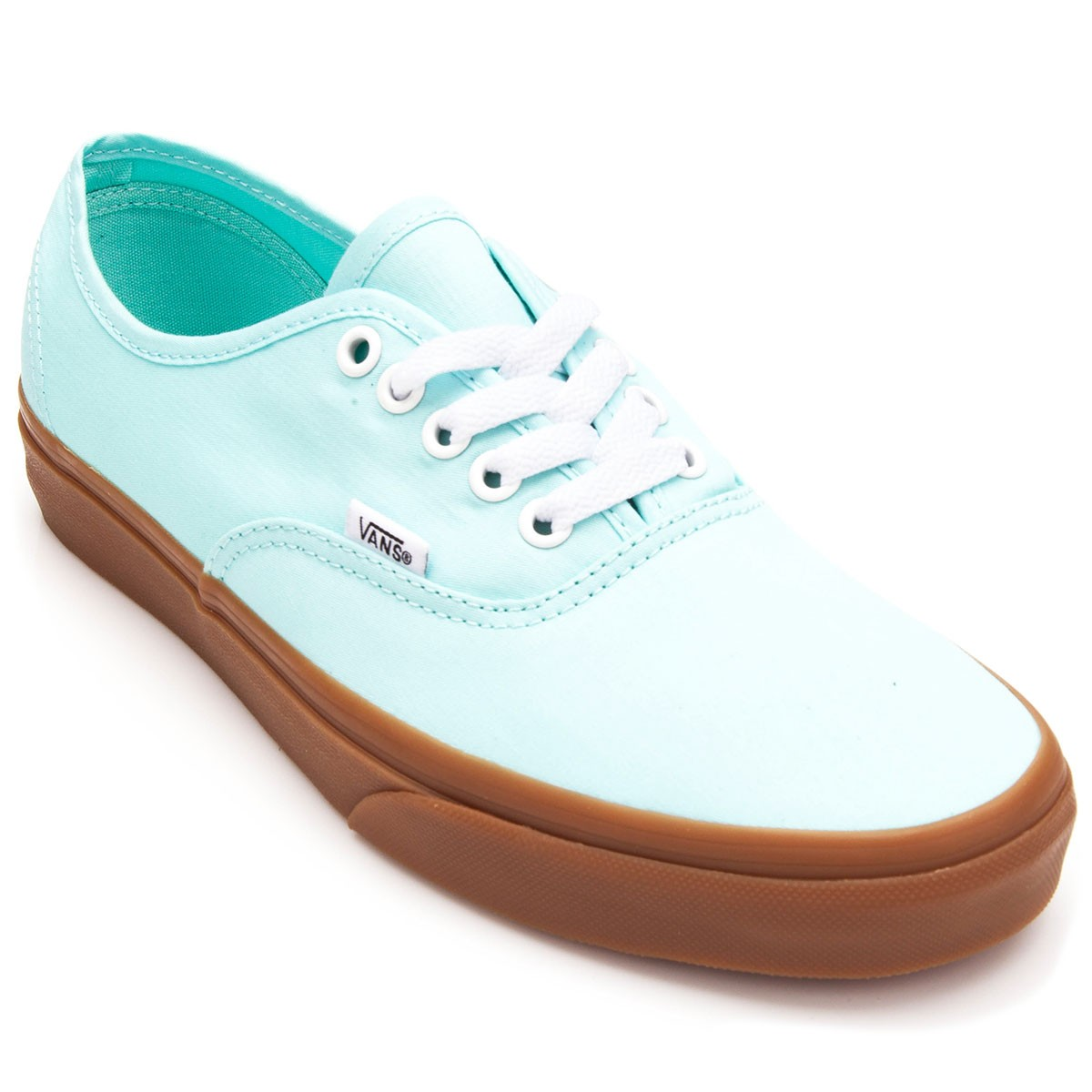 9112888351bfc9 Vans Authentic Brushed Twill Shoes - Blue Tint Gum - 4.5