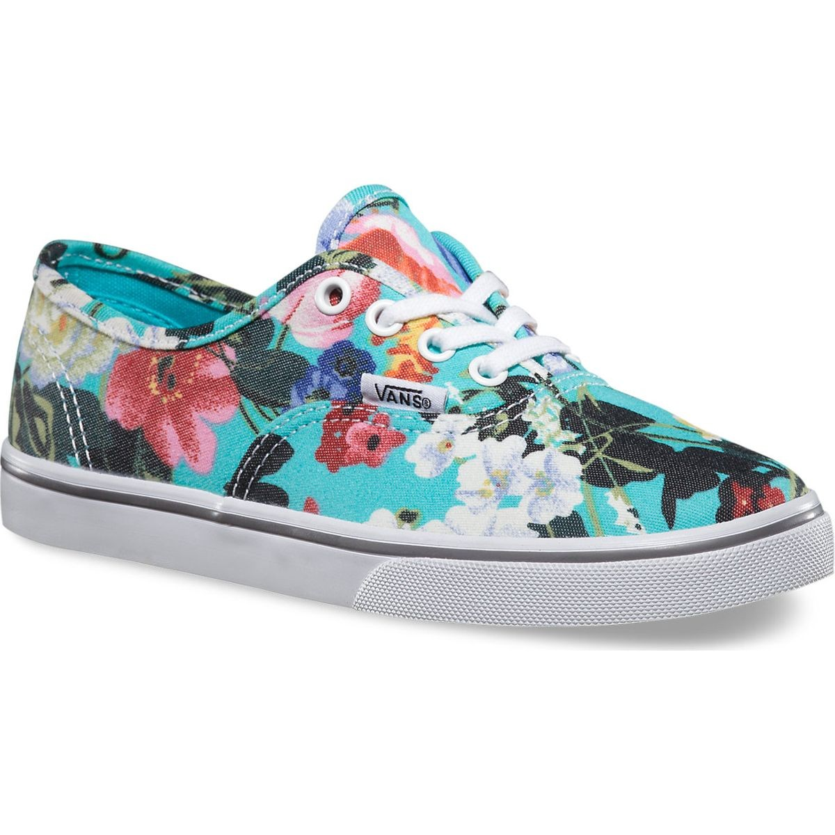 4529f9081bdef2 Vans Authentic Lo Pro Floral Youth Shoes - Smoked Pearl True White - 4Y