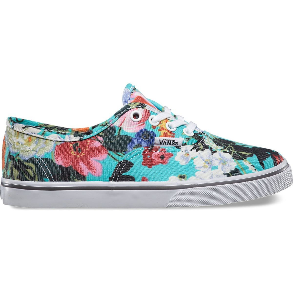 fa6175a9f1 Vans Authentic Lo Pro Floral Youth Shoes - Smoked Pearl True White - 4Y