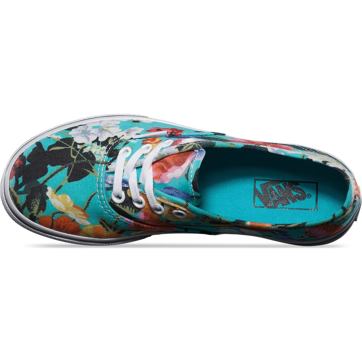 Vans Authentic Lo Pro Floral Youth Shoes - Smoked Pearl True White - 4Y 3c0250242596