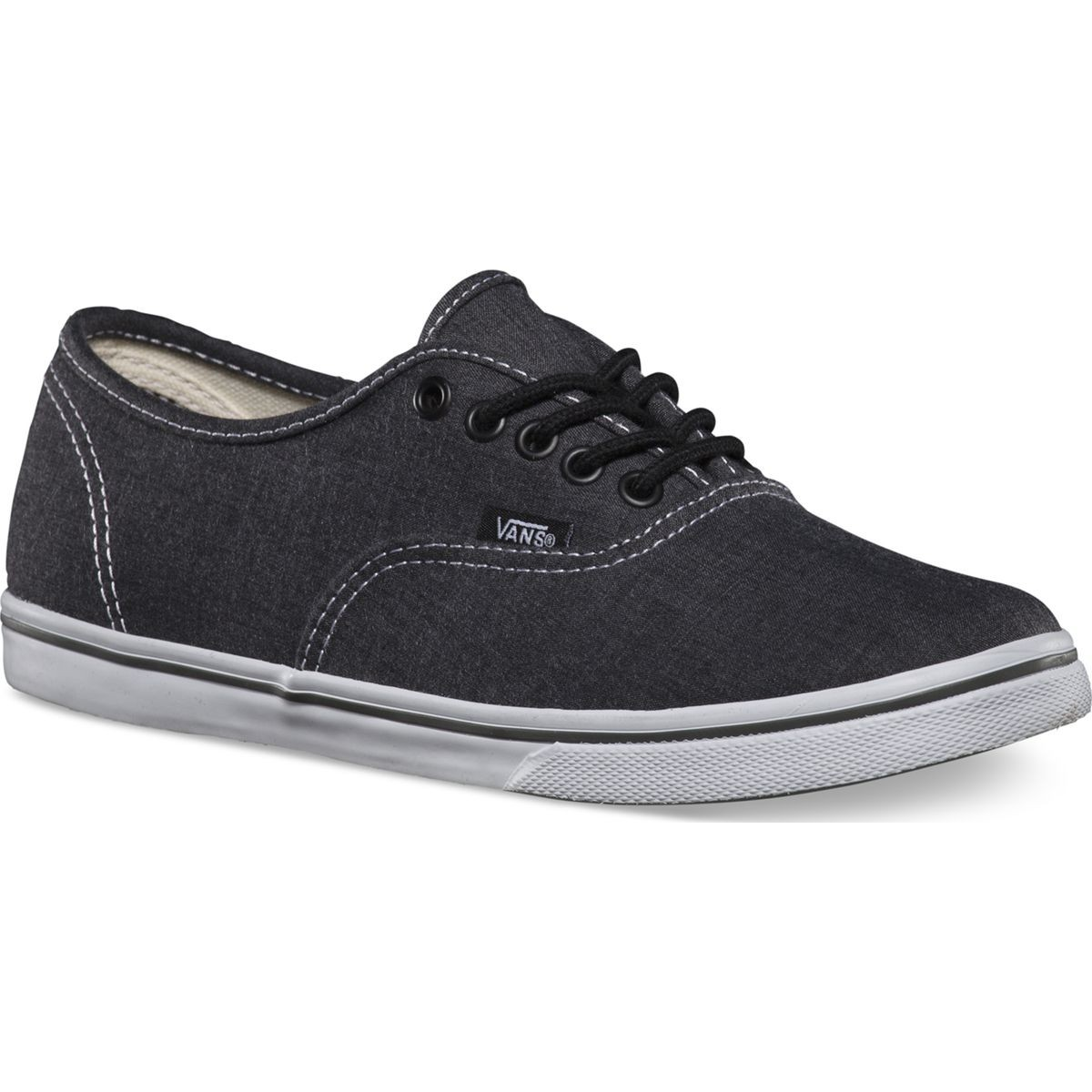 60100bba93 Vans Authentic Lo Pro Chambray Shoes - Charcoal True White - 3.5