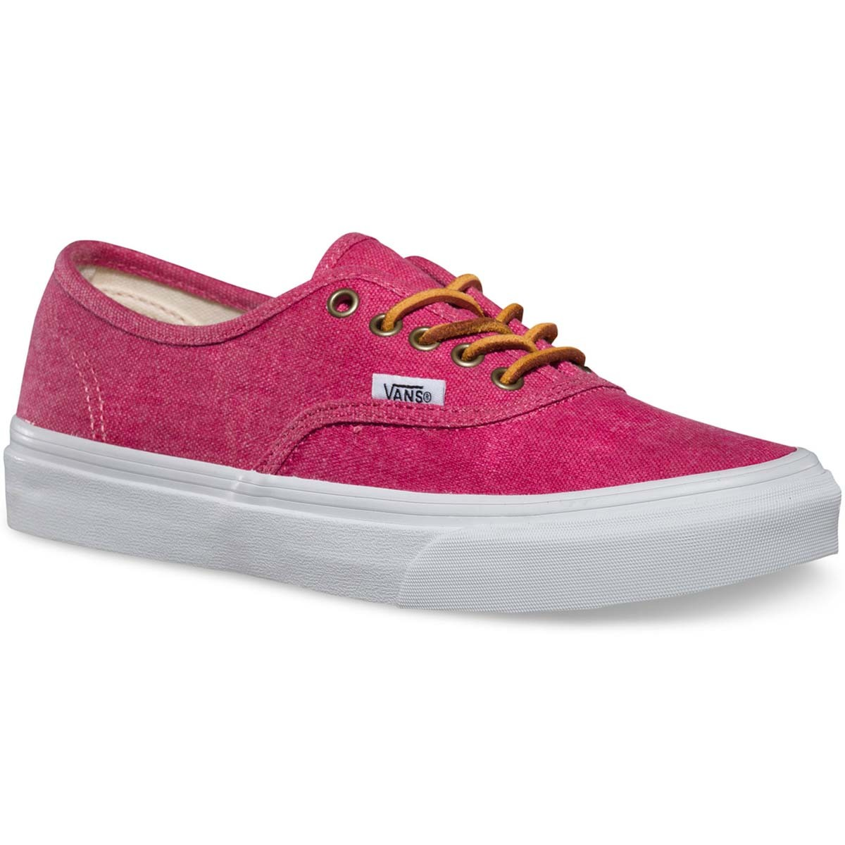 2224dd2aca Vans Washed Authentic Slim Womens Shoes - Persian Red   True White