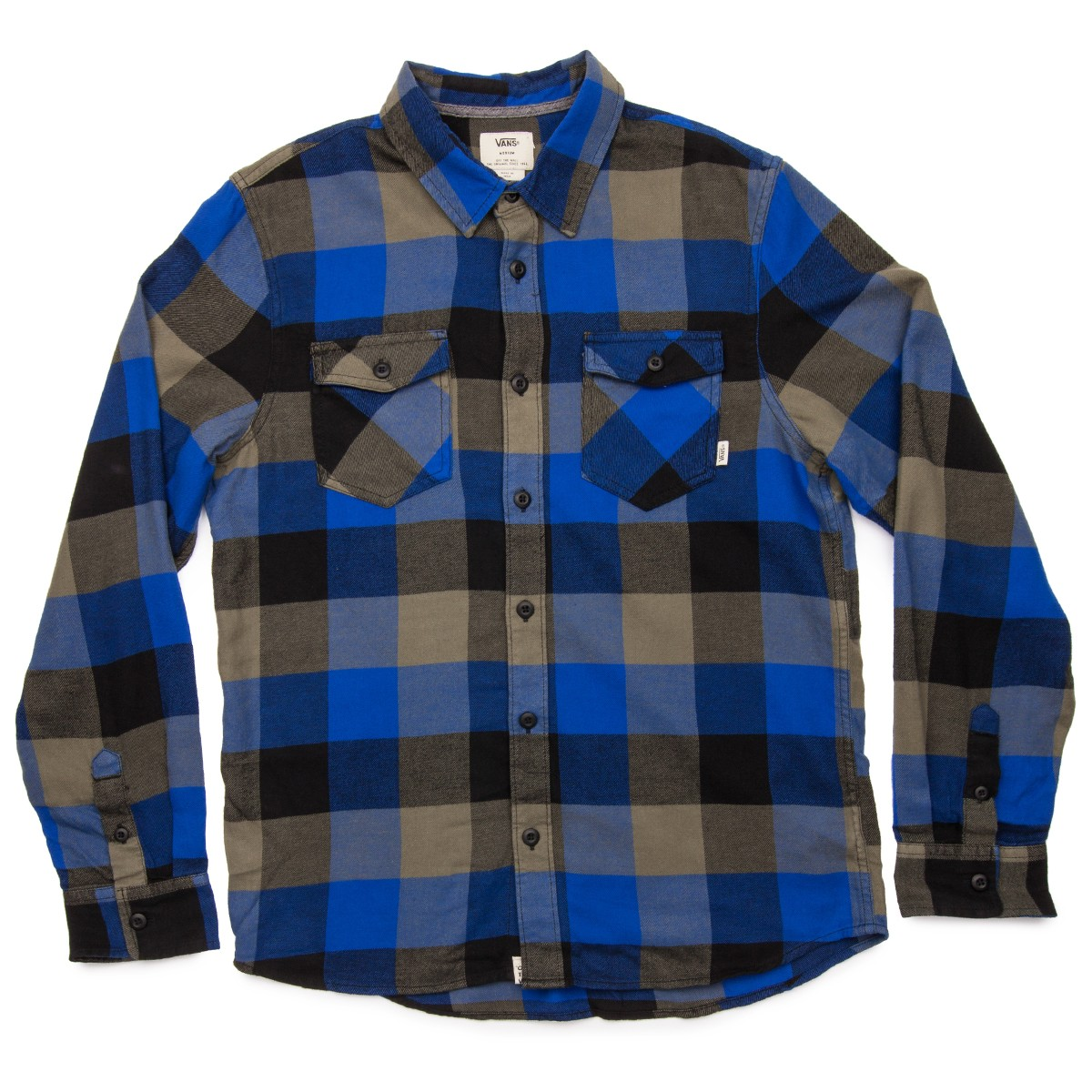 4dabe92983 Vans Box Flannel Shirt - Black/Cobalt
