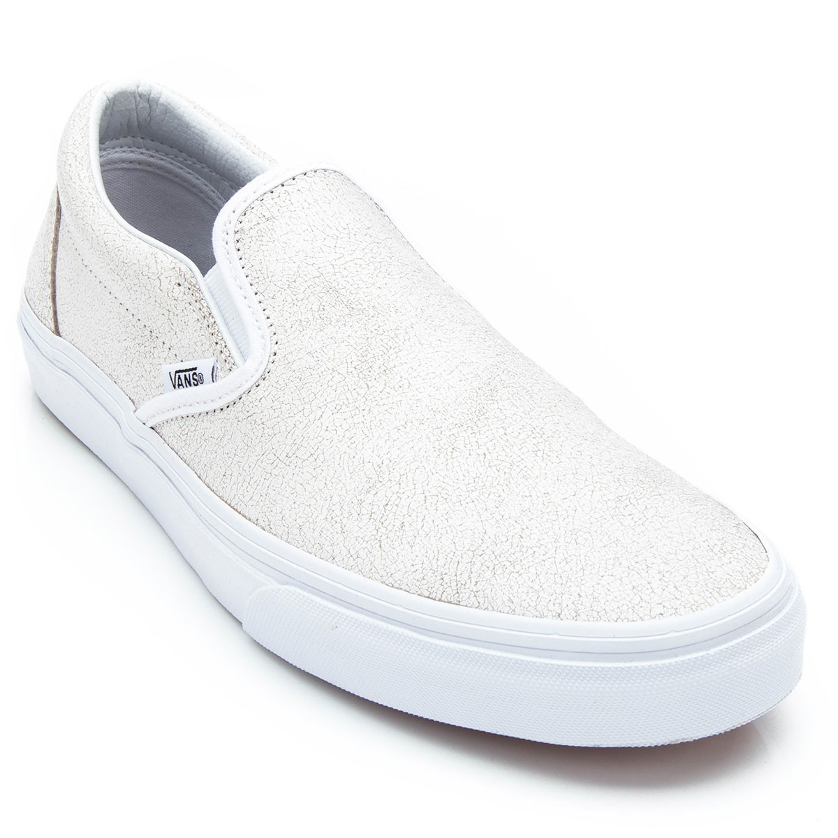 Vans Classic Slip-On Cracked Leather Shoes