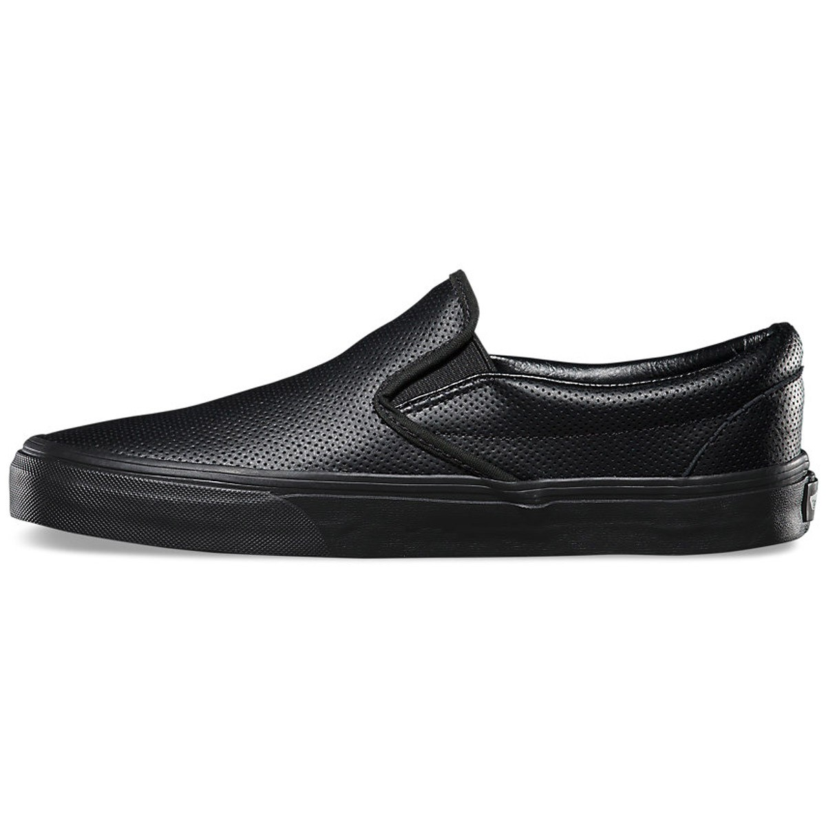 Vans Classic Slip-On Perforated Leather Shoes - Black Black - 3.5 898d86dad