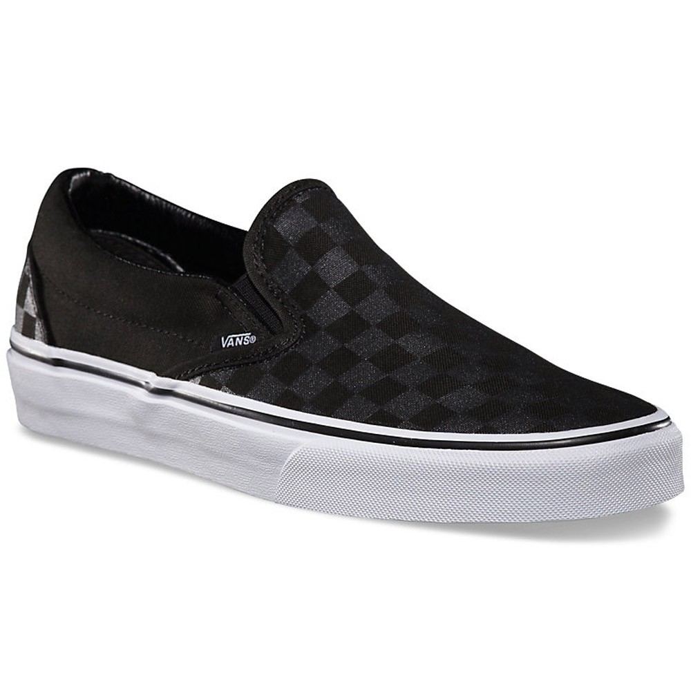 vans classic slip on black checkerboard