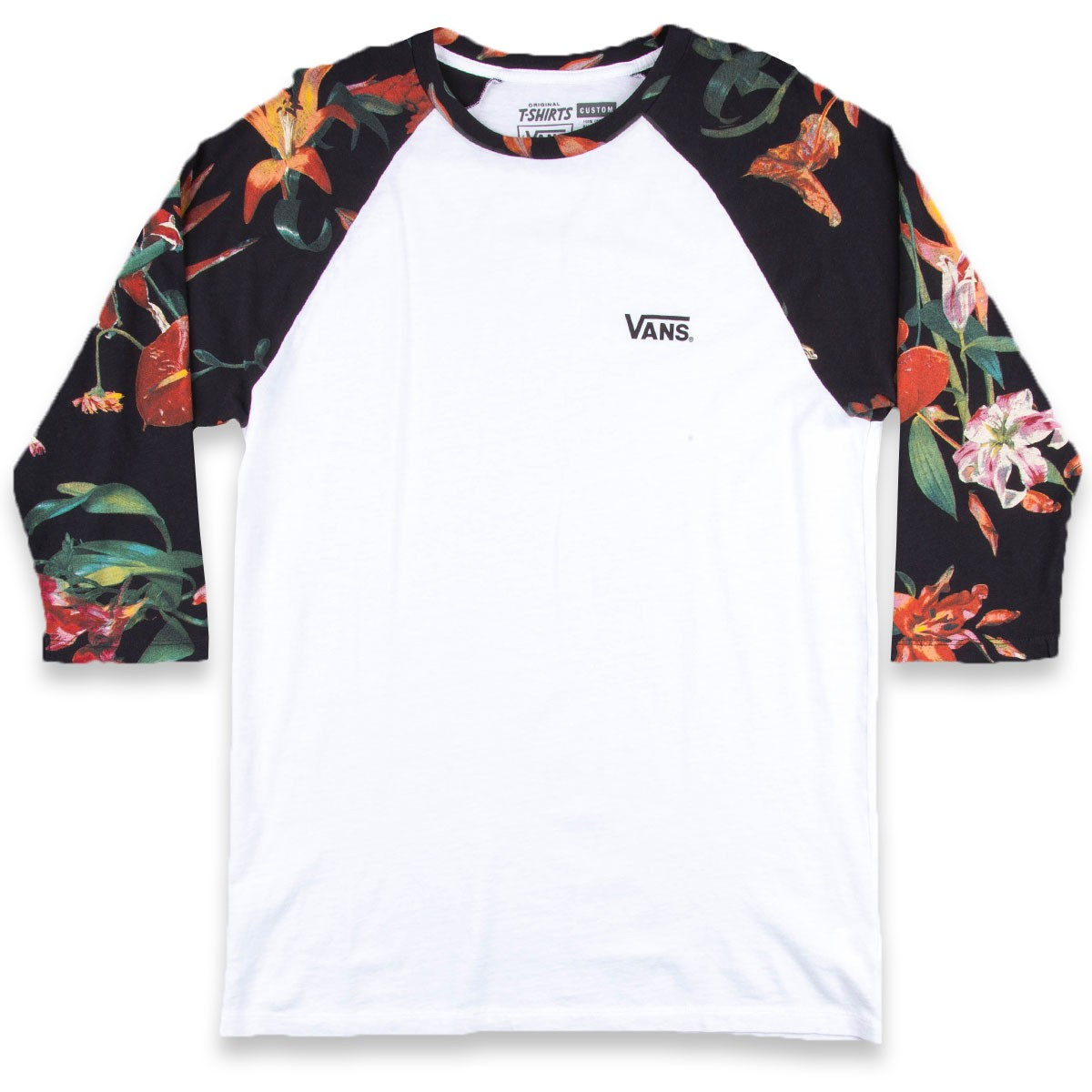 Vans Death Bloom Raglan T-Shirt - White/Death Bloom
