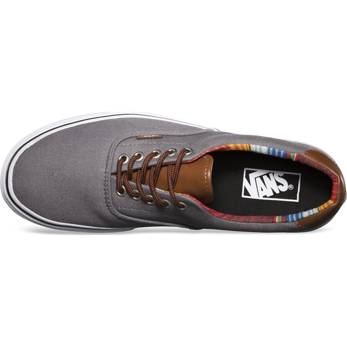 e7f1103b01f627 Vans C L ERA 59 Shoes - Steel Gray Multi Stripe - 8.0