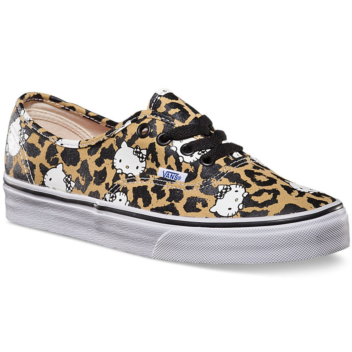 0ddc195a709f Vans Hello Kitty Authentic Shoes - Leopard True White - 7.5