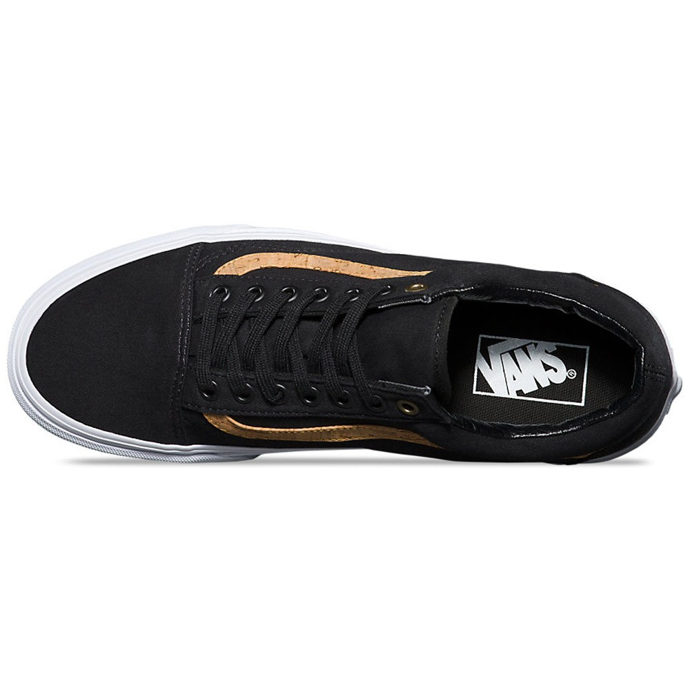 b4e4975b5c54b2 Vans Old Skool Cork Twill Shoes - Black - 6.0