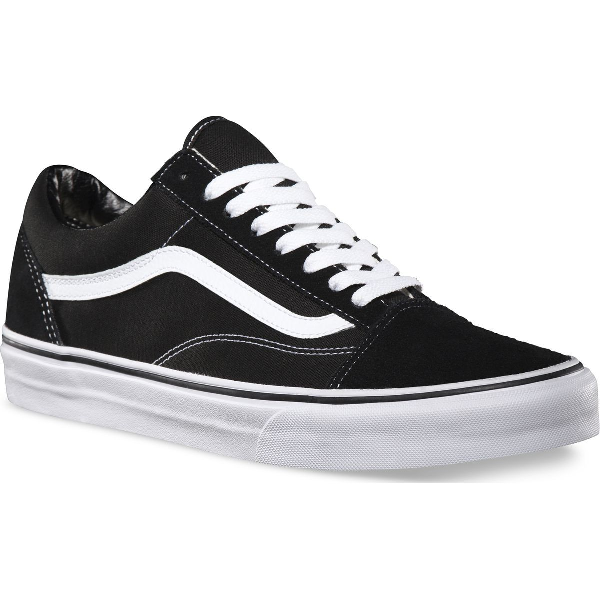 aa35ace6c57 Vans Old Skool Core Classic Shoes - Black White - 8.5
