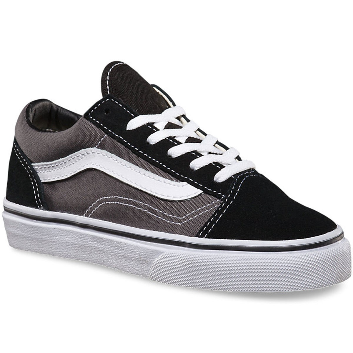 Vans Old Skool Youth Shoes - Black   Pewter 29fc37295