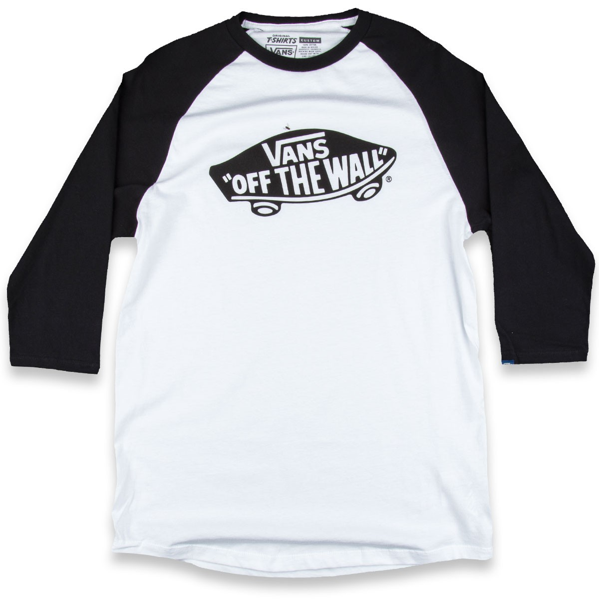 vans otw raglan t shirt white black. Black Bedroom Furniture Sets. Home Design Ideas