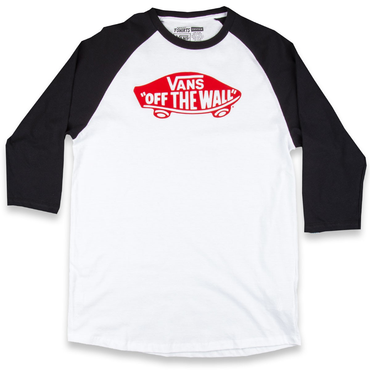748c79c6cda Vans Otw Raglan T Shirt White Black Red